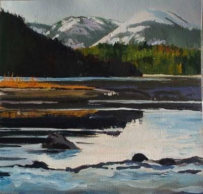"""Inner Lagoon"" original fine art by Carole Baker"