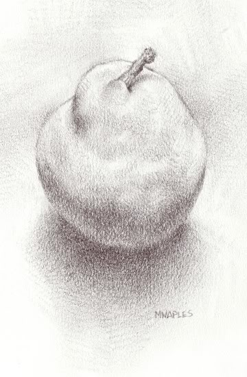 """Simple Pear"" original fine art by Michael Naples"