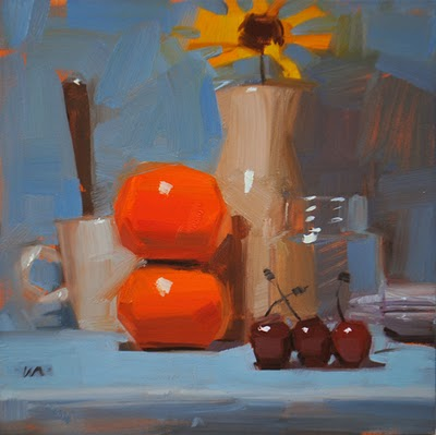 """Organized Breakfast"" original fine art by Carol Marine"