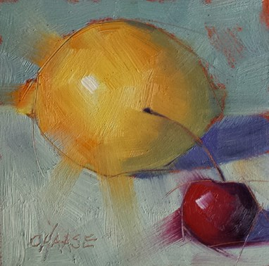 """Zesty"" original fine art by Cindy Haase"