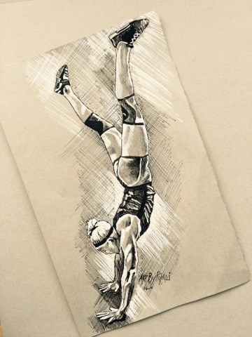 """Sara Sigmunds - Crossfit"" original fine art by Piya Samant"