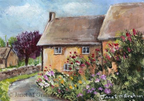 """Country Lane ACEO"" original fine art by Janet Graham"