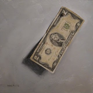 """Two Dollar Bill"" original fine art by Michael Naples"