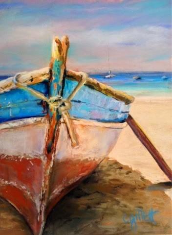 """""""Beach Bum"""" original fine art by Cindy Gillett"""
