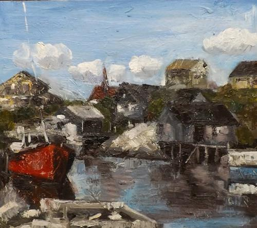 """NOVA SCOTIA 2"" original fine art by Run-      Zhang Zane"