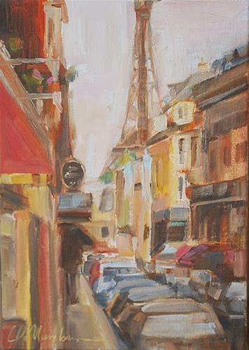 """Day 1 - Street of Dreams"" original fine art by Carol DeMumbrum"