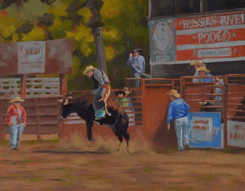 """""""Ride Em Cowboy"""" original fine art by John White"""