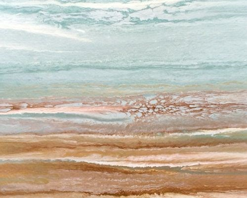 """Abstract Seascape Painting Coastal Abstract -Study #5  by Colorado Contemporary Artist Kimberly Co"" original fine art by Kimberly Conrad"