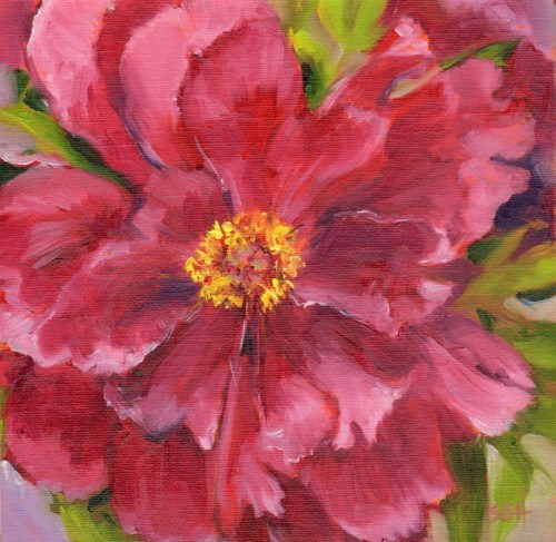"""Tree Peony"" original fine art by Sandy Haynes"