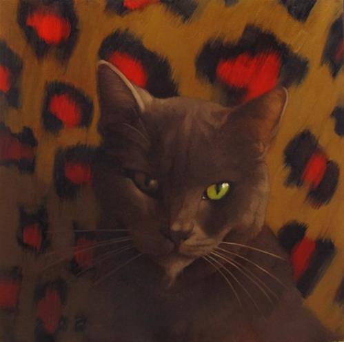"""Second Suspect Cat Town Cafe, Oakland CA"" original fine art by Diane Hoeptner"