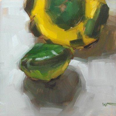 """""""Organic Squash & workshop grays"""" original fine art by Carol Marine"""