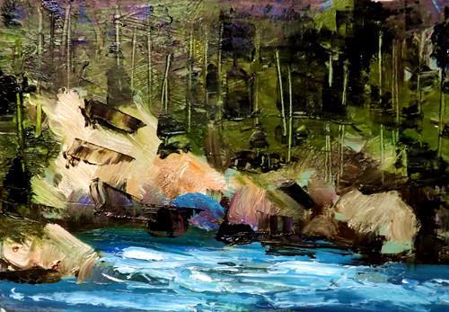 """Landscape,s29"" original fine art by Run-      Zhang Zane"