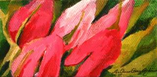"""""""Pretty in Pink"""" original fine art by JoAnne Perez Robinson"""