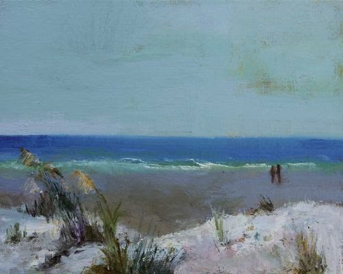 """Sand Dunes and Sea Oats, Beach and Ocean Paintings by Arizona Artist Amy Whitehouse"" original fine art by Amy Whitehouse"