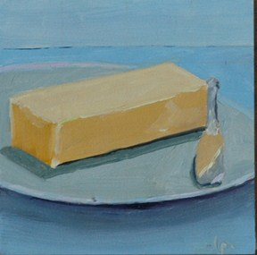 """BUTTER"" original fine art by Linda Popple"