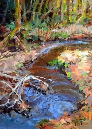 """Salmon Stream"" original fine art by Robin Peterson"