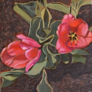 """First Tulips of the Year"" original fine art by Robert Frankis"