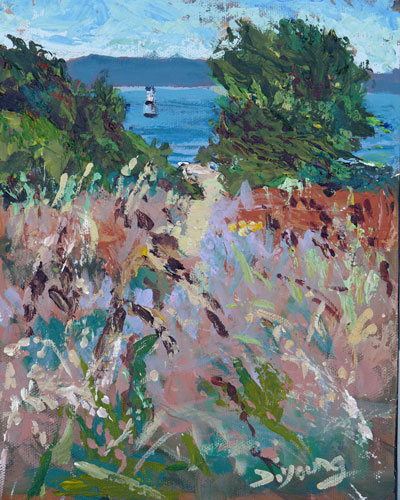 """""""Holland Point Knife Painting"""" original fine art by Darlene Young"""