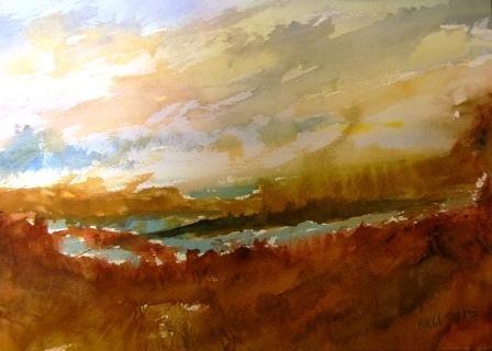 """Lagoon Whitecaps"" original fine art by Nancy Hall"
