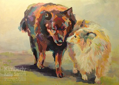 """Ursula and Daisy"" original fine art by Kimberly Santini"