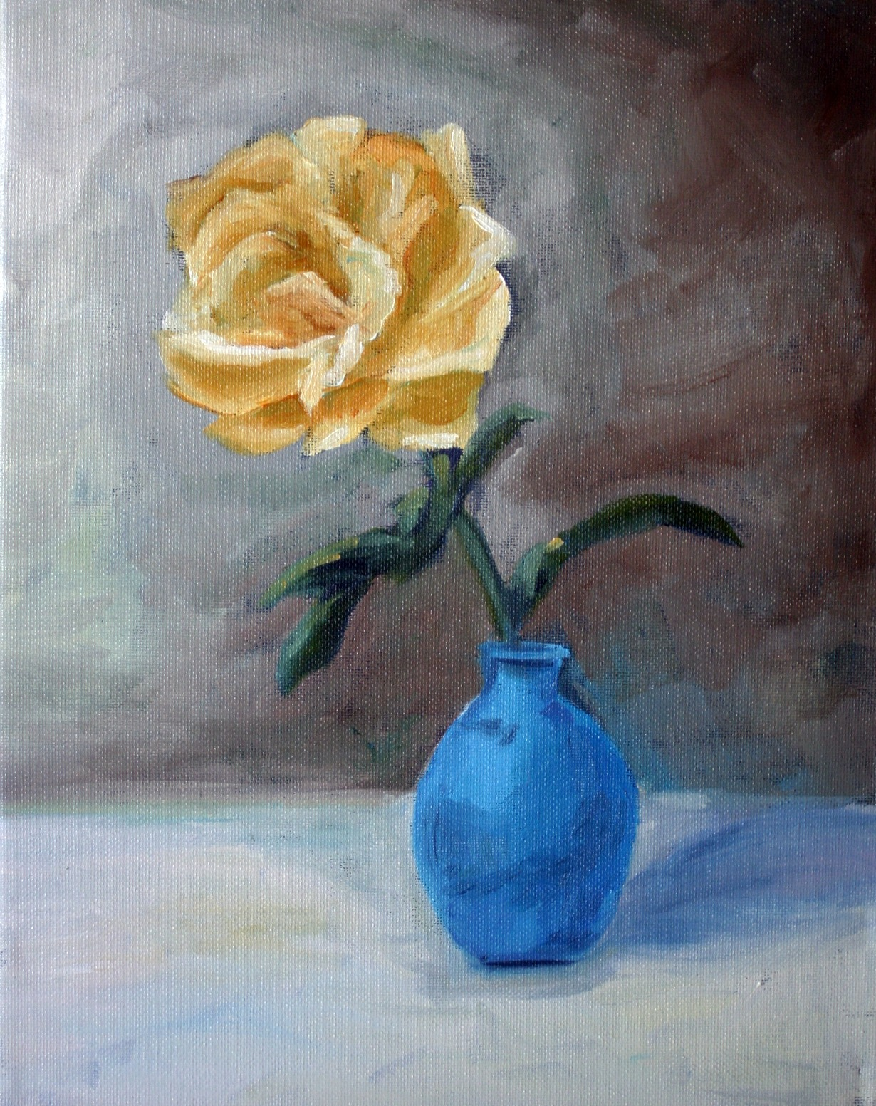"""Yellow Rose"" original fine art by Kristen Dukat"