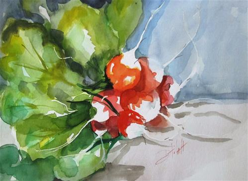 """Radish Stil Life"" original fine art by Delilah Smith"
