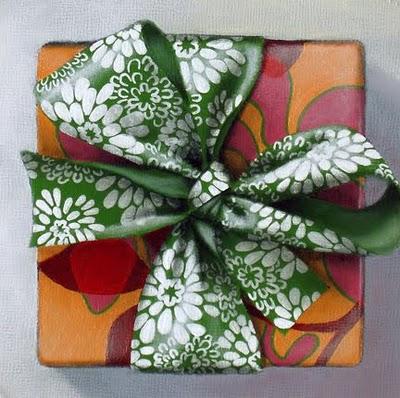 """Study - Gift Box III"" original fine art by Jelaine Faunce"