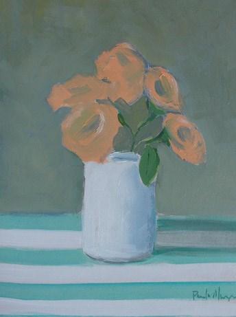 """Peach with Stripes"" original fine art by Pamela Munger"