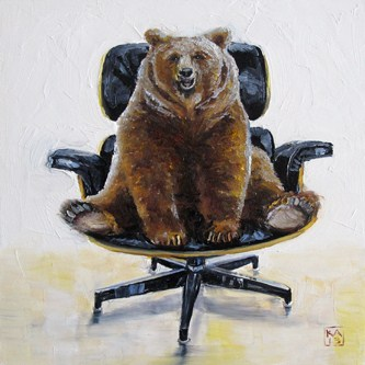 """the right to bear Eames"" original fine art by Kimberly Applegate"