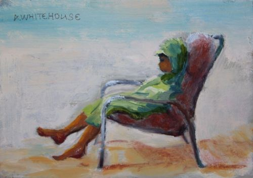 Time Out Figurative Paintings by Arizona Artist Amy Whitehouse original fine art by Amy Whitehouse