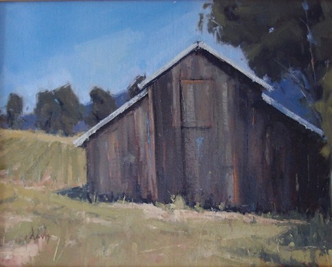 """Weathered Vineyard Barn"" original fine art by Julie Davis"