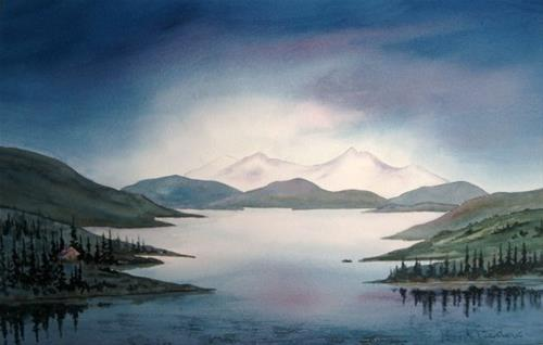 """Stormy Sky"" original fine art by Horst Berlow"