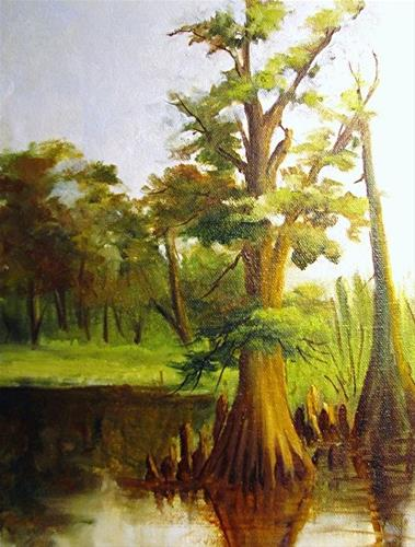 """Cow Bayou in Plein Air"" original fine art by Barbara Haviland"