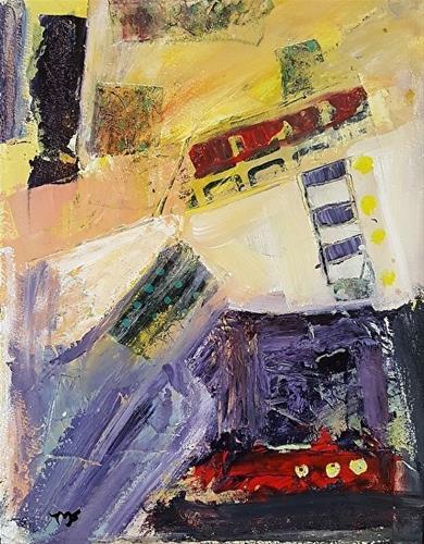 """Construction"" original fine art by Mechele Flowers"