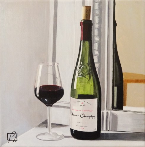 """Wine O'Clock Cinq"" original fine art by Andre Beaulieu"