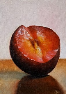 """Plum"" original fine art by Jonathan Aller"