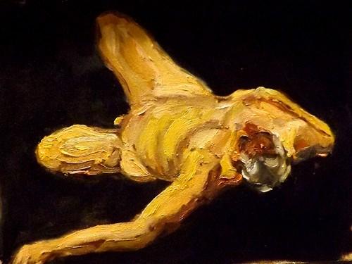 """Figurative,D14"" original fine art by Run-      Zhang Zane"