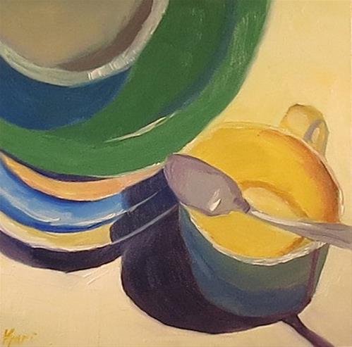 """Cup of Sunshine"" original fine art by Kari Melen"