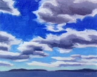 """Cloud Study I"" original fine art by Bobbi Heath"