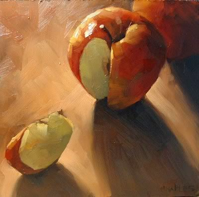 """Wedged Apple No.3"" original fine art by Michael Naples"