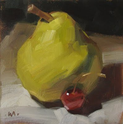 """Mama Pear"" original fine art by Carol Marine"