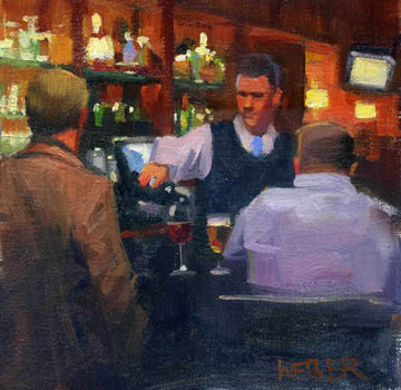 """Cabernet please"" original fine art by Kathy Weber"