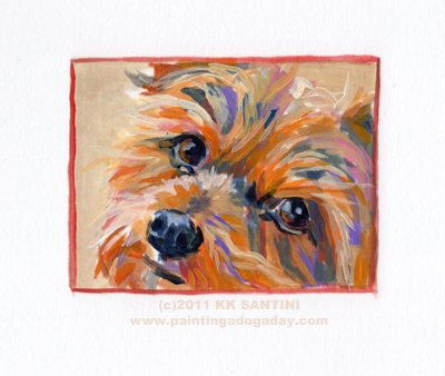 """Radar, A Painted Sketch"" original fine art by Kimberly Santini"