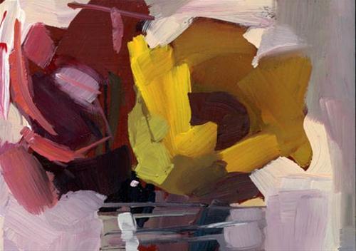 """1239 Shadow on the Wall"" original fine art by Lisa Daria"