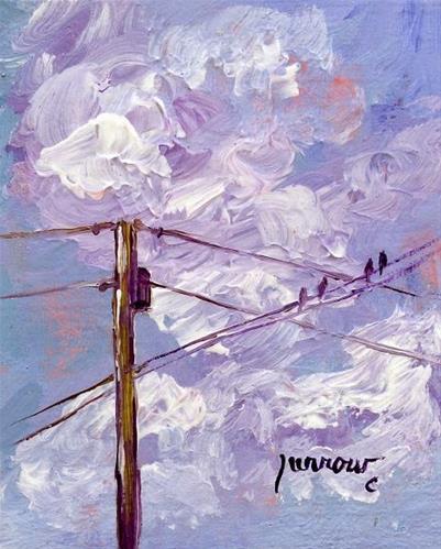 """Electric Lines"" original fine art by Sue Furrow"