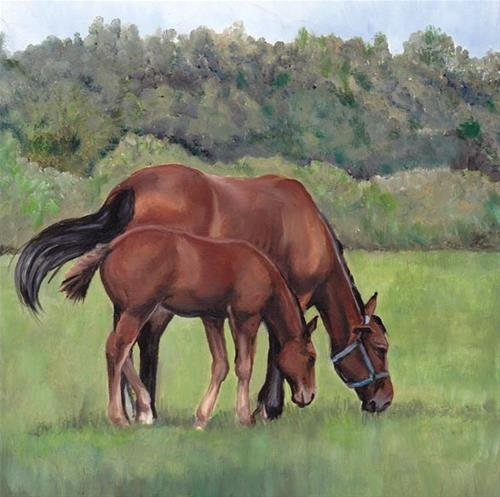 """Grazing"" original fine art by Charlotte Yealey"