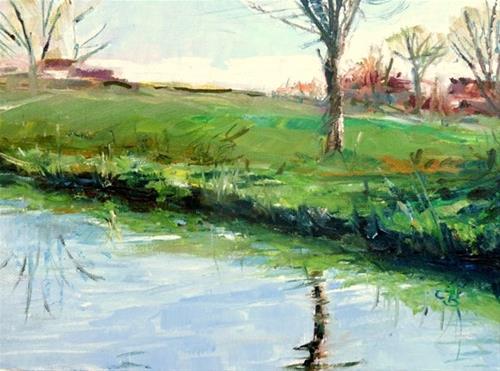 """Walk"" original fine art by Claudia Brandt"