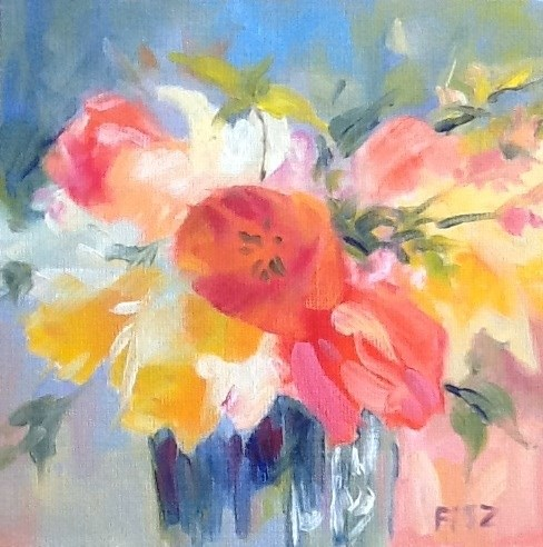 """Spring Bouquet"" original fine art by Jean Fitzgerald"
