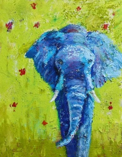 """Gentle Giant, Contemporary Animal Portraits by Arizona Artist Amy Whitehouse"" original fine art by Amy Whitehouse"