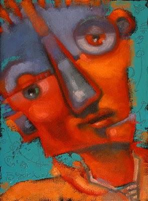"""Akimbo Man"" original fine art by Brenda York"